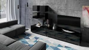 tv lowboard greta 100 farbauswahl hochglanz wohnzimmer modern tv schrank weiß