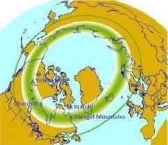Northern Lights Map