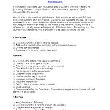 Gallery Of Film Internship Cover Letter Journal Submission Cover
