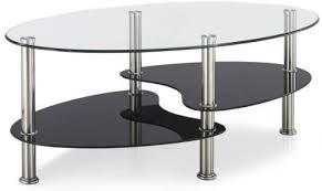 couchtisch tisch glastisch oval schwarz beistelltisch