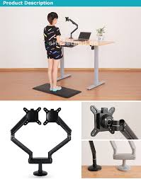 Monitor Stands For Desks Nz by Height Adjustable Monitor Mount Heavy Duty Desk Stands With Gas