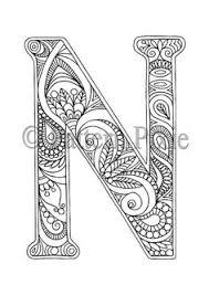 Letter Number Coloring Book PDF Digital