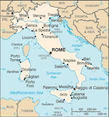 The Same As CIA Map Of Italy But From Another Source Or A Corresponding Simple And Easy To Read Scale In Miles Kilometers No Coordinates