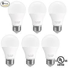 6 pack sunmeg a19 led light bulb 100 watt equivalent 11w e26