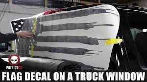 How To Install: American Flag Truck Back Window Decal Sticker ...