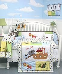 Precious Moments Crib Bedding by Amazon Com Tiddliwinks Noah U0027s Ark 3pc Crib Bedding Set With