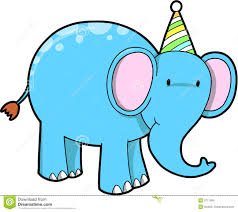 Elephant clipart birthday 7