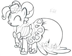 Honey Pie Pony Coloring Pages My Little Pinkie Friendship
