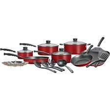 Play Kitchen Sets Walmart by Mainstays 18 Piece Nonstick Cookware Set Walmart Com