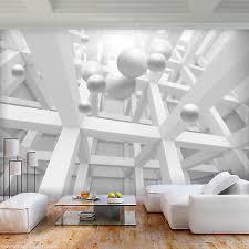 vlies fototapete 3d optik tapete grau abstrakt wandbilder