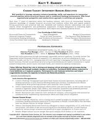 Resume Examples Banking Industry Combined With Impressive Investment Example Analyst For Job Of Your