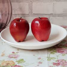 Apple Kitchen Decor Ebay by 4 Large Artificial Red Apples Decorative Fruit H1t8 Ebay