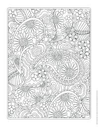 Intricate Design Coloring Pages Flower Designs Book Free