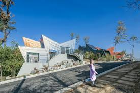 100 South Korea Houses IROJE KHM Architects Colourful Zigzagshaped Town Houses Landed On
