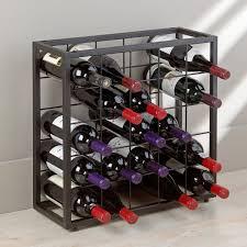 Black Steel 25 Bottle Stackable Grid Wine Enthusiast