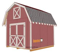8 X 10 Gambrel Shed Plans by Free Shed Plans With Drawings Material List Free Pdf Download