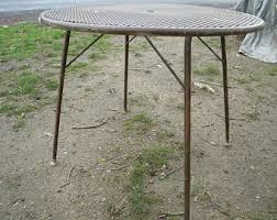 Salterini Iron Patio Furniture by Mesh Patio Table Etsy