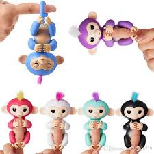 6 Color Fingerlings Interactive Baby Monkeys Smart Colorful Fingers Llings Induction Toys Best Gifts For Kids