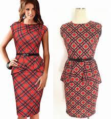 European And American Business Ladies DressPlus Peplum Women DressSummer Sleeveless Sheath Bodycon Dresses ColorOrange SizeS 2XL Material