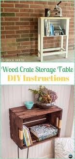DIY Wood Crate Storage Table Instructions
