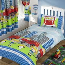 City Firemen Little Boys Bedding Crib Toddler Duvet Cover ...