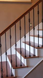 Indoor Stair Railing Kits Railings Wooden Wood Stairs Designs ... Iron Stair Parts Wrought Balusters Handrails Newels And Stairs Amusing Metal Railing Parts Extordarymetalrailing Banister Baluster Railing Adorable Modern Railings To Inspire Your Own Shop Kits At Lowescom Stainless Steel Our 1970s House Makeover Part 6 The Hardwood Entryway Copper Home Depot Model Staircase Metal Spindles For High Quality Neauiccom 24 Best Craftsman Style Remodeling Ideas Images On This Deck Stair Was Made Using Great Skill Modular