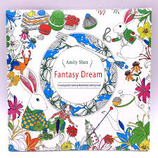 1 PCS 24 Pages Fantasy Dream English Edition Coloring Book For Children Adult Relieve Stress Kill Time Painting Drawing