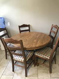 Oak Dining Table And 5 Chairs For Sale In Haysville KS