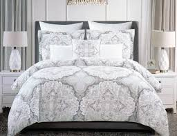 Tahari Home Bedding by Tahari Bedding 3 Piece King Duvet Cover Set Floral Paisley