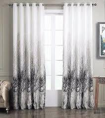 gardine vorhang schlaf wohnzimmer ösen baum muster