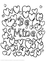 Printable Valentine Day Coloring Pages