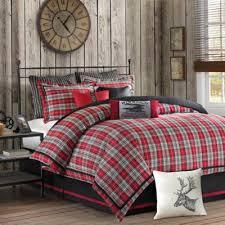 Woolrich Williamsport Twin Comforter Set In Red Grey