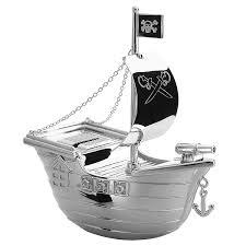 100 Design A Pirate Ship Piggy Bank H 15 CM Mazoncouk