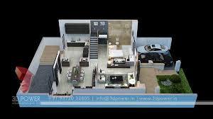 Apartment Ground Floor Plan 3d Design View
