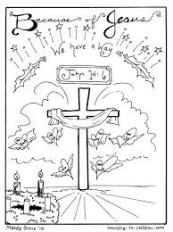 Download Coloring Pages Childrens Christmas Sheets Jesus Is Our Way Free