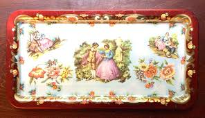 Daher Decorated Ware Tin Tray by Vintage Feature U2013 Vintage Metal Trays Southern Vintage Table