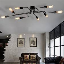 Steel Art 8 Light Semi Flush Mount