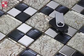 fliesen mosaiksteine glasmosaik schwarz silber