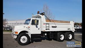 2000 International 4900 10-12 Yard Dump Truck For Sale - YouTube