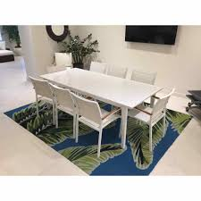 Lloyd Flanders Lux Extension Dining Table With 8 Arm Chairs