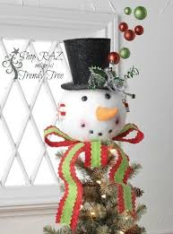 Raz Christmas Decorations 2015 by 89 Best Snowman Christmas Tree Topper Images On Pinterest