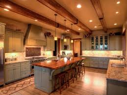 100 Beams On Ceiling In Country Kitchen With S