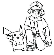 Pokemon Coloring Pages Ash From Page Homey Idea Sheets