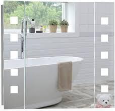 led beleuchteter badezimmer spiegelschrank mit licht tageslichtweiß bei 6500k tüv geprüft mit antibeschlag pad ohne sichtbare kabel steckdose