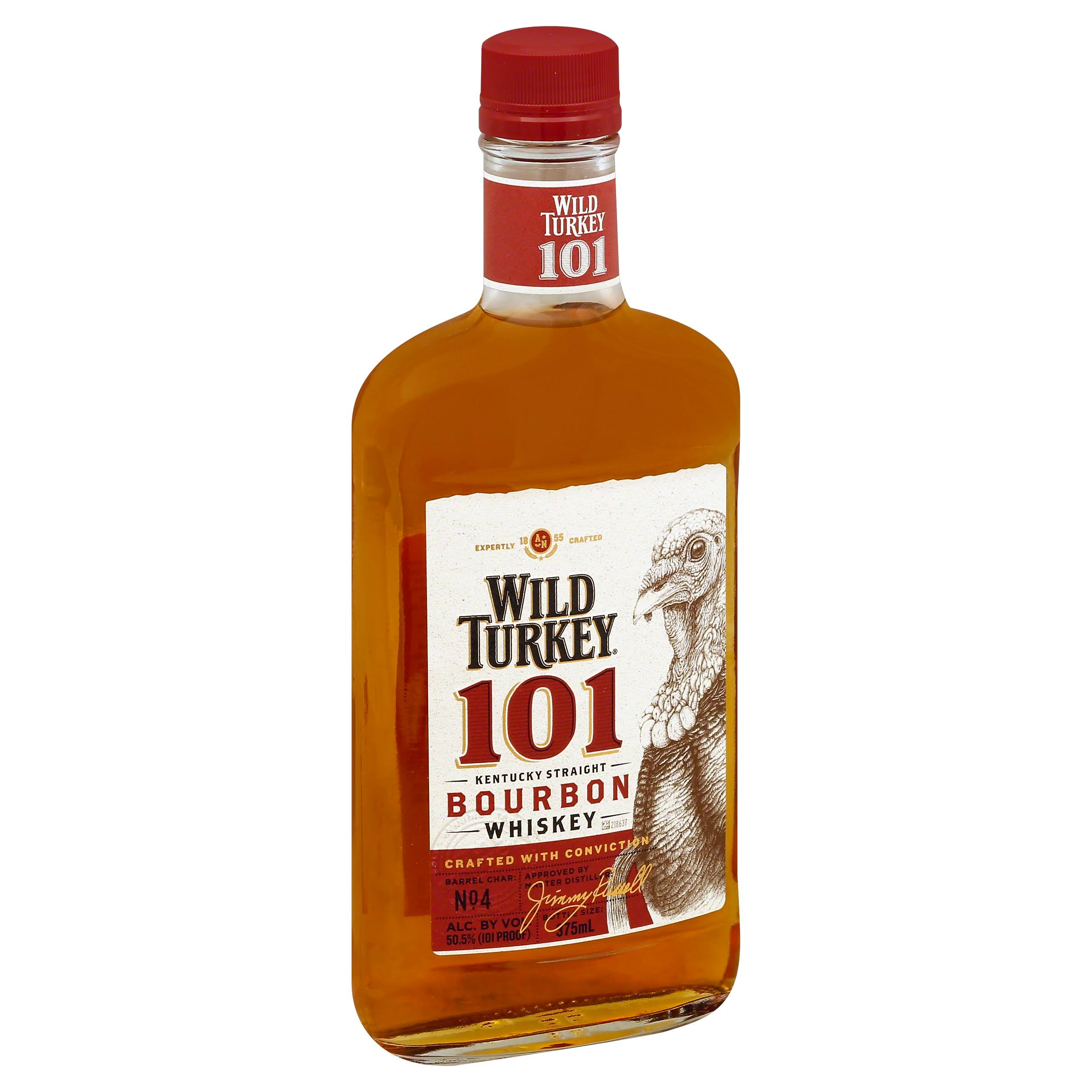 Wild Turkey Whiskey, Kentucky Straight Bourbon, 101 - 375 ml