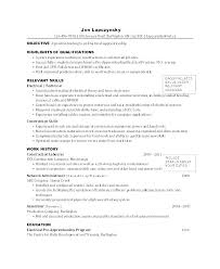 Electrician Resume Template Free For An Cv Sample India