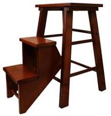 antique wood folding step ladder stool blue step stools