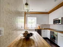 White Country Kitchen With Butcher Block Awesome On