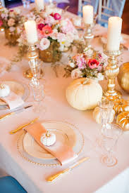 Gold Pumpkin Carriage Centerpiece by Trilogy At Vistancia Weddings Arizona Wedding Venue White And