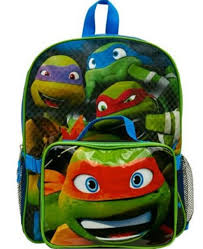 100 Tmnt Monster Truck 16Large Backpack With Lunch Box Having TMNT Images By Partytoyz